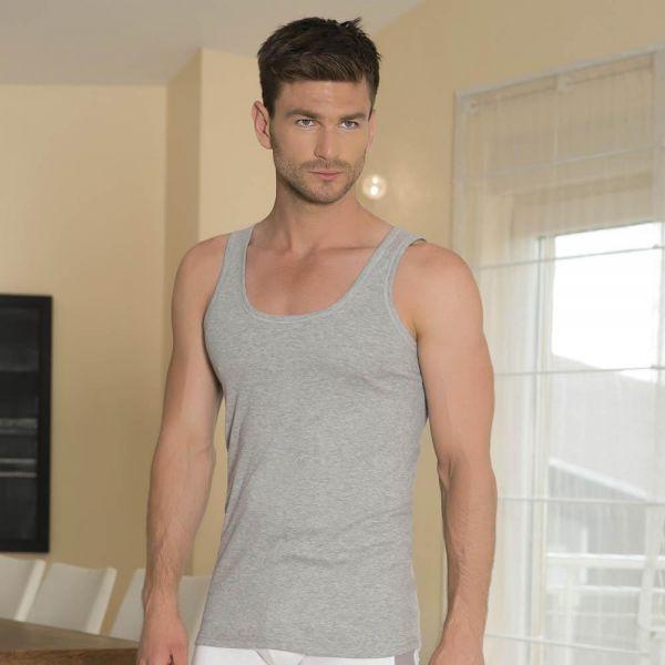 Wholesale Men Loungewear collection , Rib knit cotton tank top vest