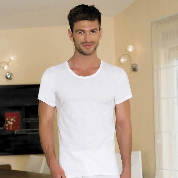Wholesale Men Collection, Short-sleeve open-neck cotton t-shirt