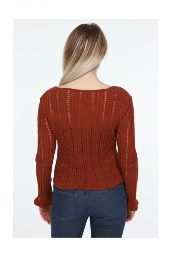 Women's Brown V Neck Knitwear