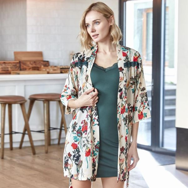 Wholesale Homewear collection , 2 Pcs Green Women gown, nightdress set