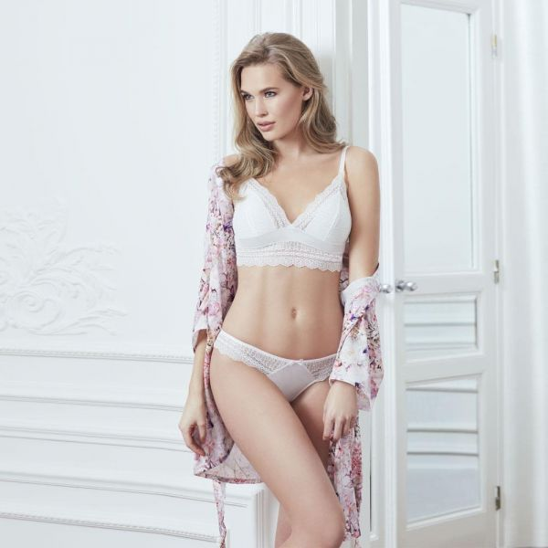 Wholesale Loungewear collection , Bralette , Robe 3 pcs Gown, bustier and panties set