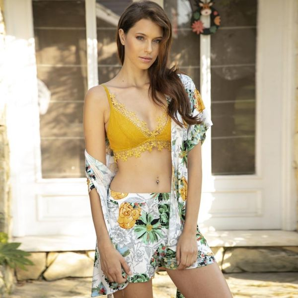Homewear collection, Bralette 3 pcs , Gown, bustier and shorts set