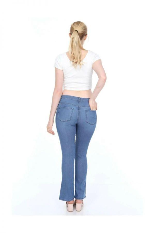 Women's Normal Waist Half Boot-cut Leg Jeans