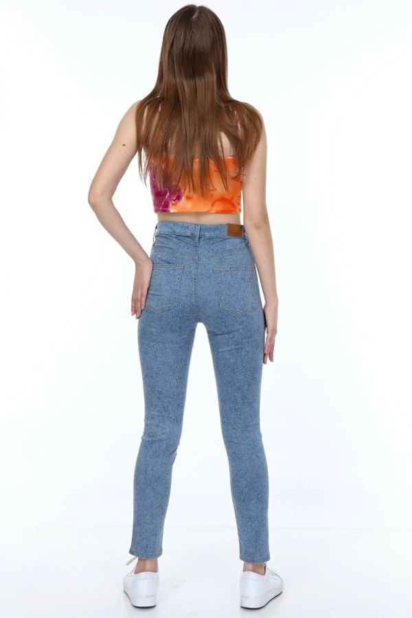 Women's High Waist Blue Color Jeans
