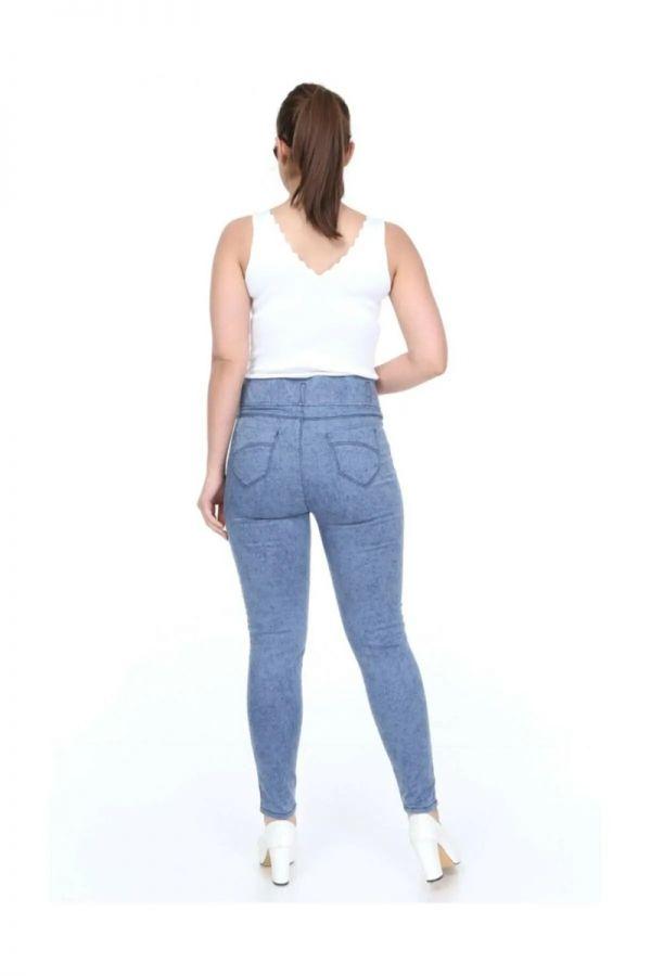 Women's Special Patterned Oversize Denim Leggings