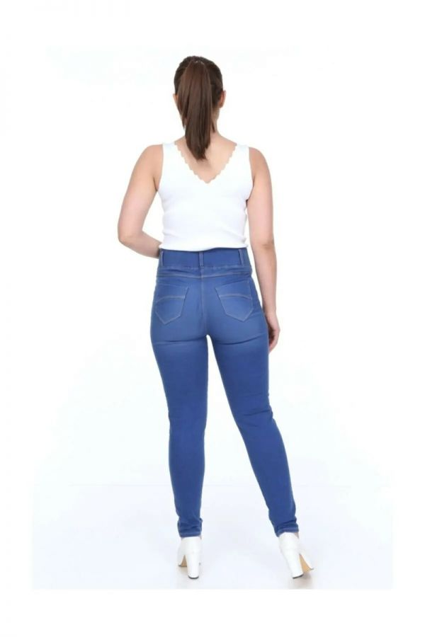 Women's Oversize Cut Blue Denim Leggings