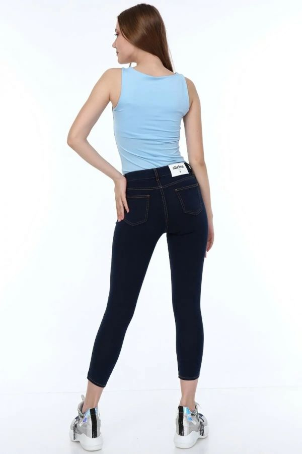 Women's Normal Waist Skinny Short Leg Pants