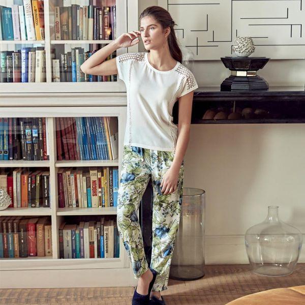 Wholesale Homewear collection , 2 Pcs Women t-shirt, pyjama set