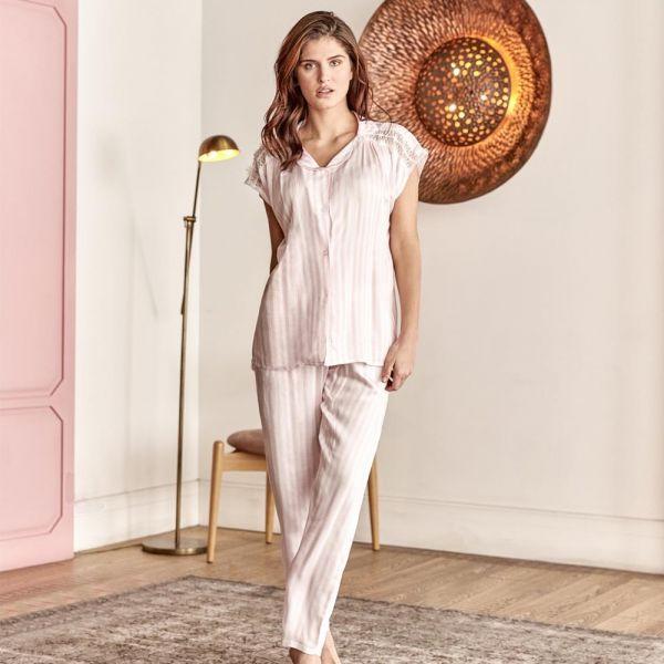 Wholesale Homewear collection , Pink color Women's t-shirt, pyjama set