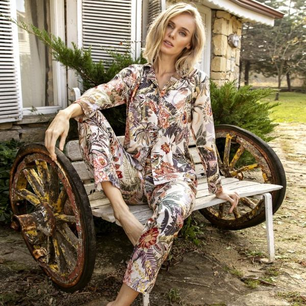 Homewear Collection , Long sleeve shirt, pants set