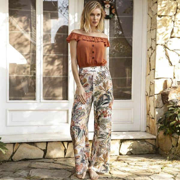 Loungewear collection, Short sleeve t-shirt, pants set