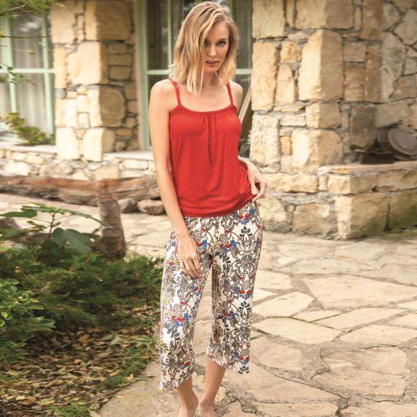 Wholesale Homewear collection , Red Top, pants  PJ set