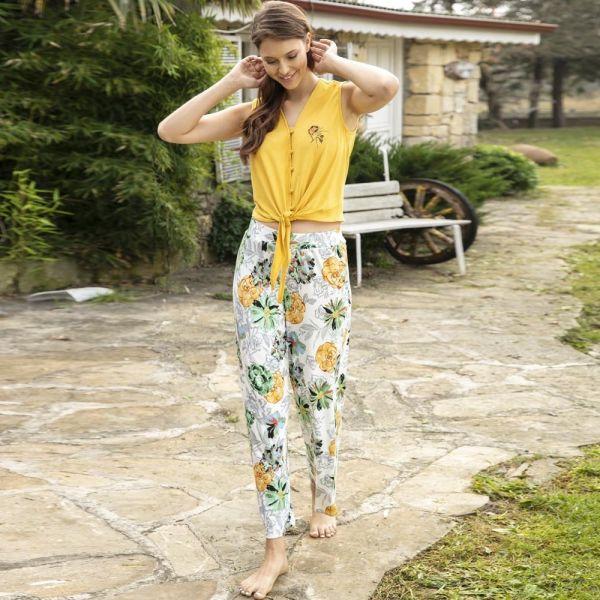 Wholesale Homewear collection , Sleeveless t-shirt, pants set